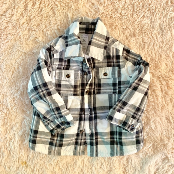 Carter's Other - Carters plaid/Sherpa jacket